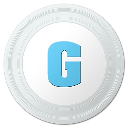 Letter G Initial Baby Boy Block Font Blue Shower Novelty 9 Flying Disc
