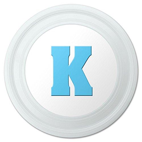 Letter K Initial Baby Boy Block Font Blue Shower Novelty 9 Flying Disc