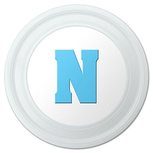 Letter N Initial Baby Boy Block Font Blue Shower Novelty 9 Flying Disc