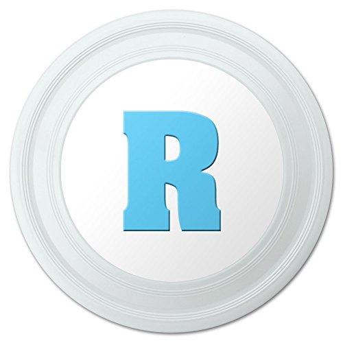Letter R Initial Baby Boy Block Font Blue Shower Novelty 9 Flying Disc