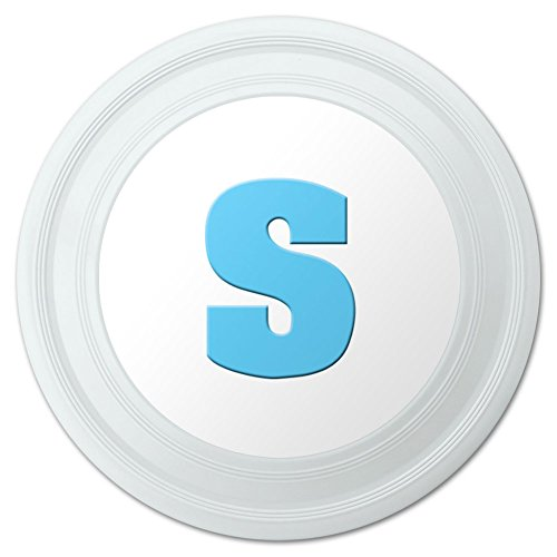 Letter S Initial Baby Boy Block Font Blue Shower Novelty 9 Flying Disc