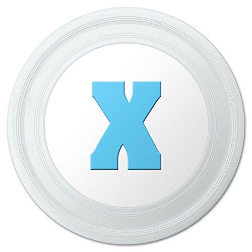 Letter X Initial Baby Boy Block Font Blue Shower Novelty 9 Flying Disc