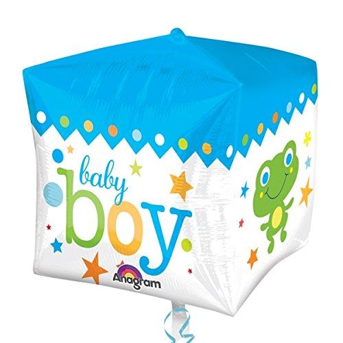Sweet Baby Boy Block New Baby Cubez Foil Balloon
