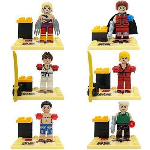 6Piece SetStreet Fighter Superheroes Minifigure High 45 cmMini Figures BuildingBlocks New in plastic bag