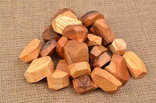 Tumi Ishi Handmade Wooden Blocks 24 Pieces Gift Ideas Kids