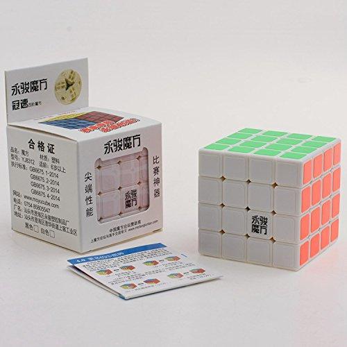 HelloCube YongJun GuanSu 4x4x4 Cube Speed Puzzle White